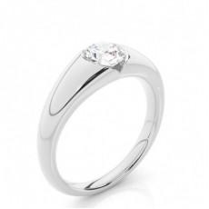Bague de fiançailles solitaire diamant rond serti invisible - CLRN383_01