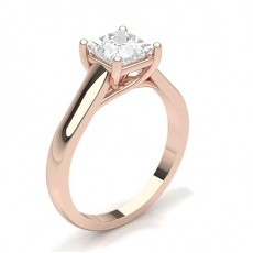 White Gold Princess Diamond Engagement Ring - CLRN384_01