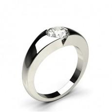 Bague de fiançailles solitaire diamant rond serti invisible - CLRN385_01