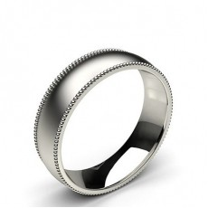 6.00mm Plain Comfort Fit Mens Grooved Wedding Band