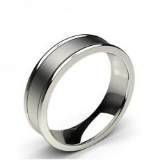 White Gold Men's Contemporary Wedding Rings