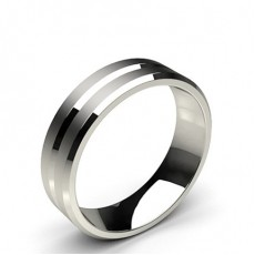 6.00mm Plain Comfort Fit Mens Grooved Wedding Band - CLRN414_01