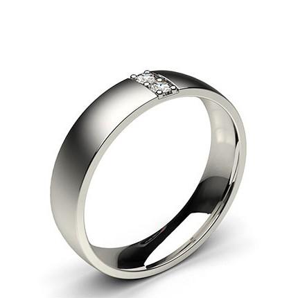 Alliance diamant confort rond homme serti pavé