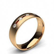 Rotgold Trauringe mit Diamant