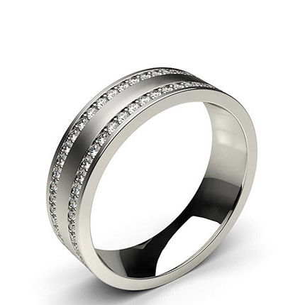 6.00mm Studded Comfort Fit Mens Wedding Band