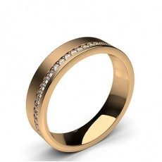 Studded Comfort Fit Mens Wedding Band - HG0596_A8
