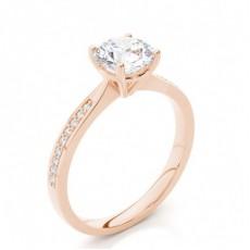 Diamant Verlobungsring in einer Krappenfassung mit Schulter Diamanten - CLRN426_01