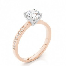 4 Prong Setting Side Stone Engagement Ring - CLRN426_01