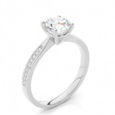4 Prong Setting Side Stone Engagement Ring - HG0649_P38
