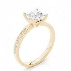 White Gold Round Side Stone Diamond Engagement Ring - CLRN426_01