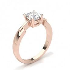 White Gold Round Diamond Engagement Ring - CLRN430_01