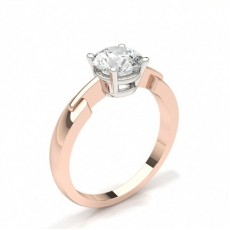 4 Prong Setting Plain Engagement Ring - CLRN430_01