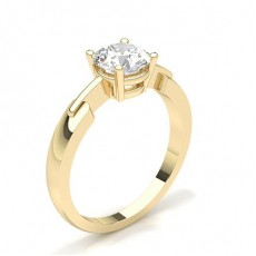 4 Prong Setting Plain Engagement Ring - CLRN430_01