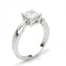 Bague de fiançailles solitaire diamant serti 4 griffes rondes - CLRN430_01