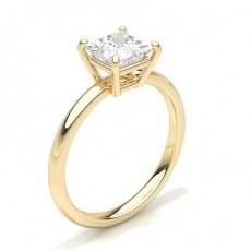White Gold Round Diamond Engagement Ring - CLRN431_01