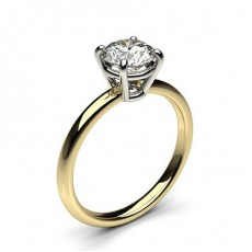 4 Prong Setting Plain Engagement Ring - CLRN431_01