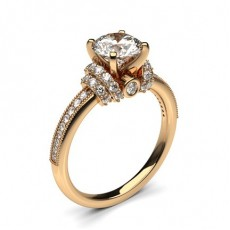 Diamond Engagement Rings Side Stone Rings Rose Gold