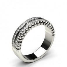 0.20ct. Pave Setting Half Eternity Diamond Ring