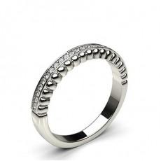 0.10ct. Pave Setting Half Eternity Diamond Ring