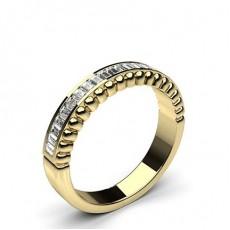 Baguette Yellow Gold Diamond Eternity Rings