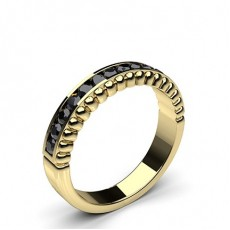 Yellow Gold Black Diamond Women's Wedding Rings