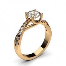 Diamant Verlobungsring in einer Krappenfassung mit Schulter Diamanten - CLRN438_01