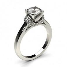 Diamant Verlobungsring in einer Krappenfassung mit Schulter Diamanten - CLRN439_01