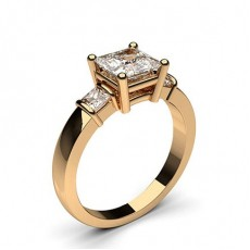 Princess Rose Gold Engagement Rings
