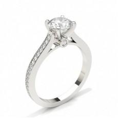 Diamant Verlobungsring in einer Krappenfassung mit Schulter Diamanten - CLRN441_01