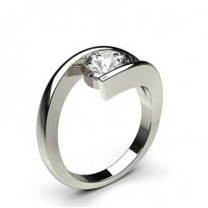 Bague de fiançailles solitaire diamant rond serti rail - CLRN443_01