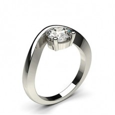 Channel Prong Setting Plain Engagement Ring - CLRN444_01