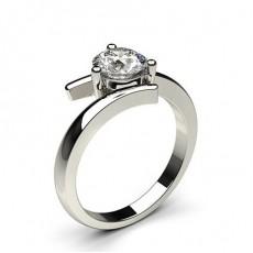 White Gold Diamond Engagement Ring - CLRN446_01