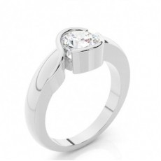 Channel Setting Plain Engagement Ring - CLRN447_01