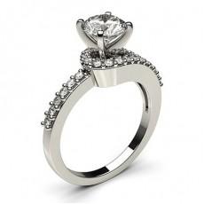White Gold Diamond Engagement Ring - CLRN448_01