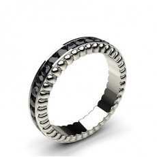 4.40mm Channel Setting Full Eternity Black Diamond Ring