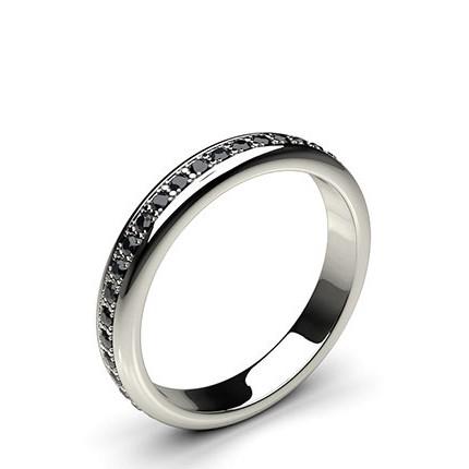 Eternity Schwarze Diamant Ring in einer Pavefassung
