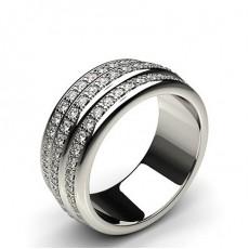 8.40mm Pave Setting Full Eternity Diamond Ring