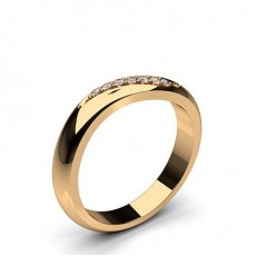 Round Rose Gold Woman Shaped Bands