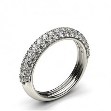 Pave Setting Half Eternity Diamond Ring - HG0616_29
