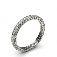 Pave Setting Full Eternity Diamond Ring
