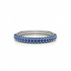 Round Platinum Gemstone Diamond Rings