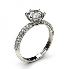 Round Side Stone Diamond Rings