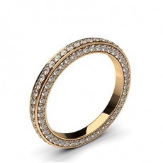 Rond Or Rose Bague Diamant Tour complet