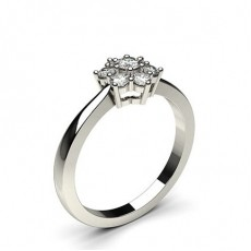 Prong Setting Round Diamond Cluster Ring - CLRN501_02
