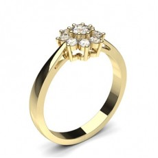 Prong Setting Round Diamond Cluster Ring - CLRN501_01