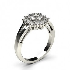 Prong Setting Round Diamond Cluster Ring - CLRN503_01