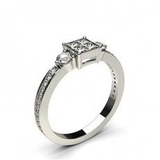 Platine Illusion Bague Diamant