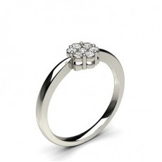 Pressure Setting Round Diamond Cluster Ring - CLRN507_01