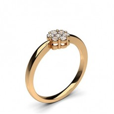 Rotgold Cluster Ringe