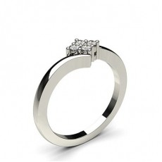 Prong Setting Round Diamond Cluster Ring - CLRN508_01